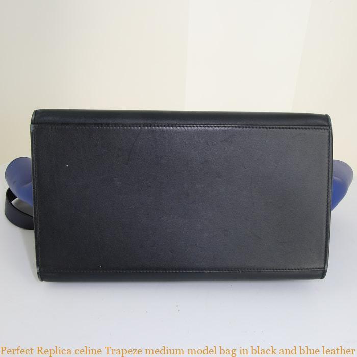 de76d252072 Perfect Replica celine Trapeze medium model bag in black and blue leather –  AAA Replica Bags – Buy Top Quality Replica Designer Handbags