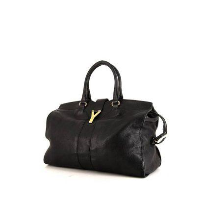 a29614b494 Perfect Yves Saint Laurent Replica Chyc large model handbag in black leather