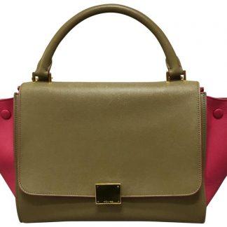 d0d41db8e289 You re viewing  Cheap Designer Handbags Céline Fake Trapeze Pink brown  Calfskin Leather Satchel celine nano bag £752.32