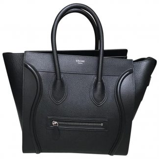fb14040c0fda Flawless Céline AAA Replica Mini (Medium Size) Black Satchel celine big bag  replica