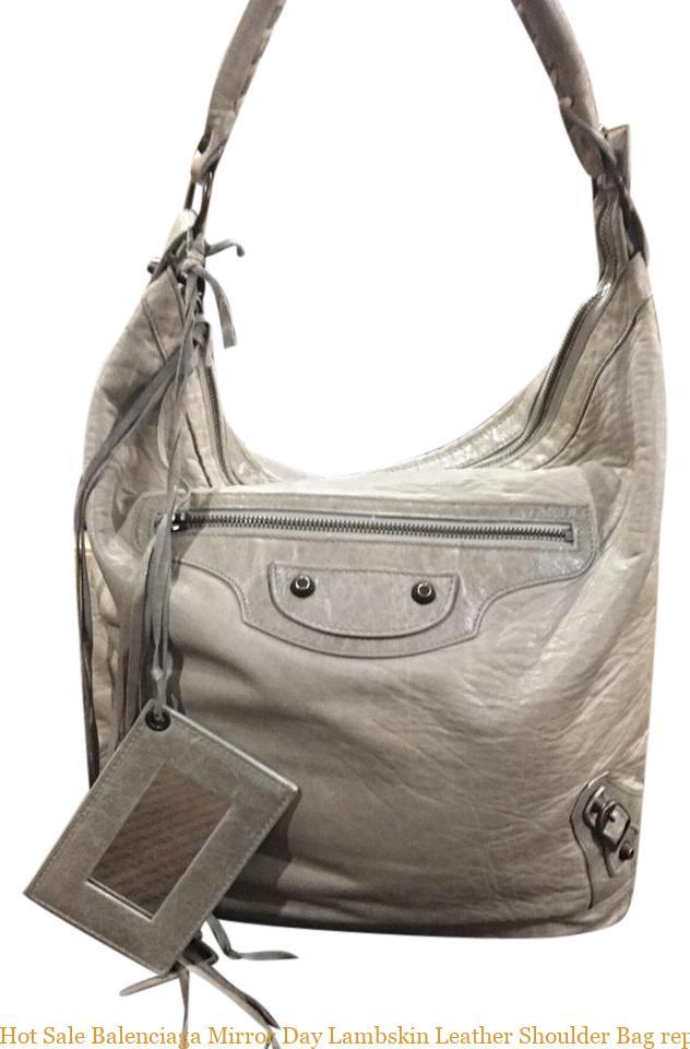 a65711f90a6 Hot Sale Balenciaga Mirror Day Lambskin Leather Shoulder Bag replica  balenciaga triple s