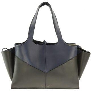... Perfect Quality Céline Replica Trifold Navy and Black Multicolor  Leather Shoulder Bag celine replica ... a8a862368a512