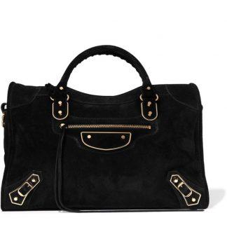 bc0a622a28c The factory direct Balenciaga Replica Classic Metallic Edge City Suede  Satchel Balenciaga handbag
