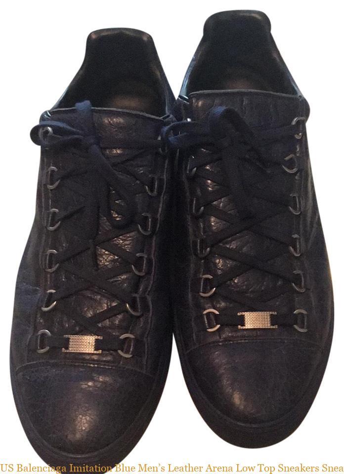 581e74d189186 US Balenciaga Imitation Blue Men s Leather Arena Low Top Sneakers Sneakers  balenciaga replica shoes cheap